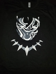 Black Panther Arabic White Tee