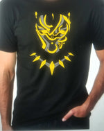Black Panther Arabic Gold Tee