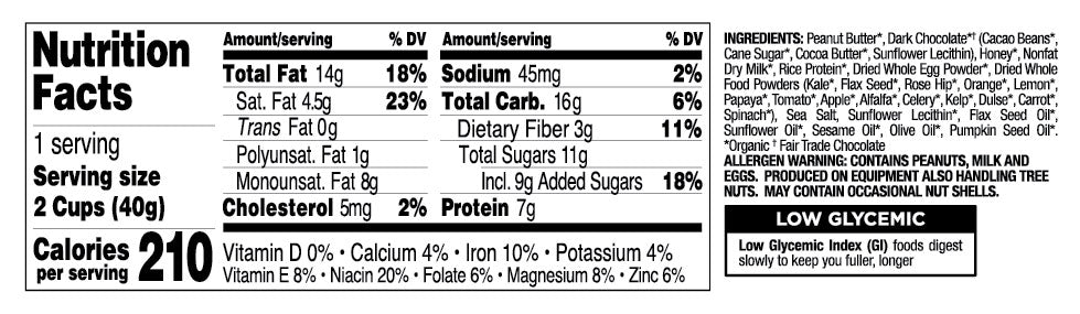 Dark Chocolate with Sea Salt nutritional information