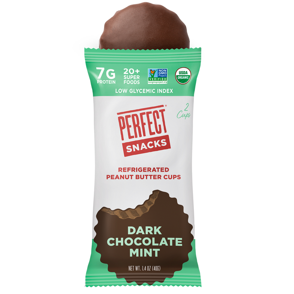 Dark Chocolate Mint cup and wrapper