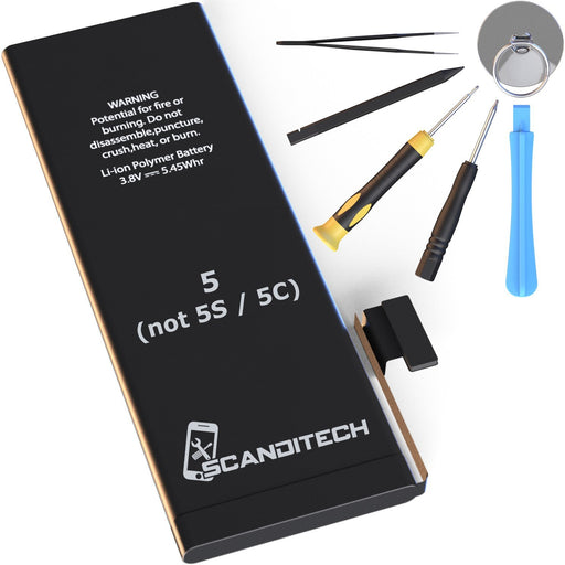 ScandiTech Battery Model iP5 - Replacement Kit with Tools, Adhesive & Instructions