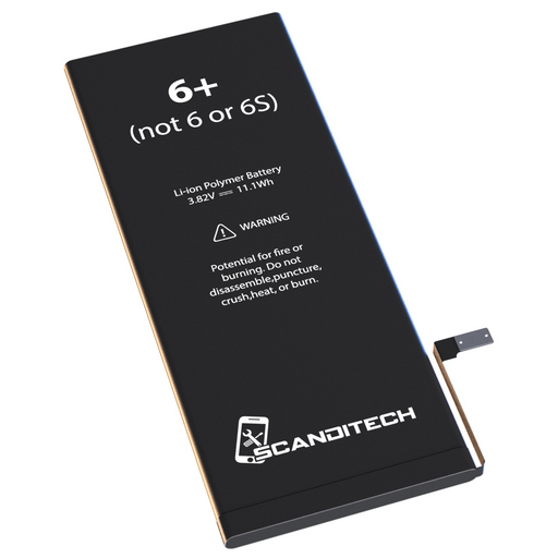 ScandiTech Battery Model iP6+ (not 6 or 6S+) - With Adhesive & Instructions (no tools)