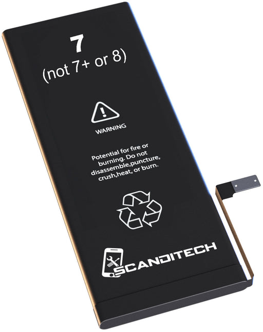 ScandiTech Battery Model iP7 (not 7+ or 8) - With Adhesive & Instructions (no tools)