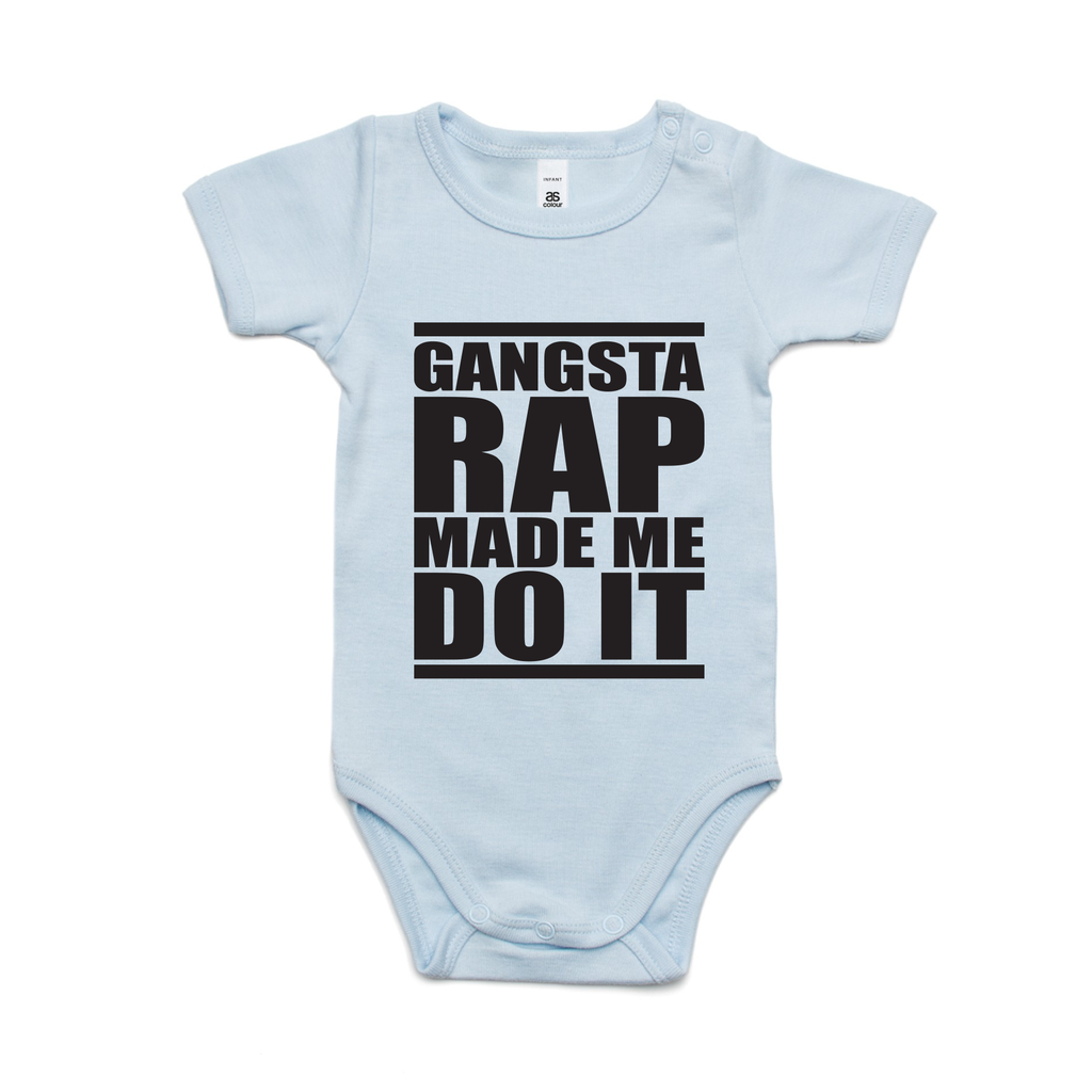 GANGSTER RAP MADE ME DO IT (BLACK PRINT)