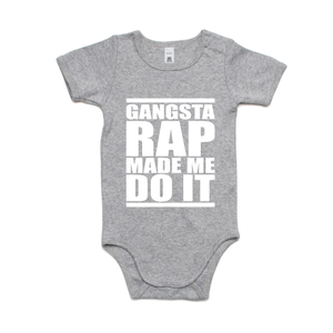 GANGSTER RAP MADE ME DO IT (WHITE PRINT)