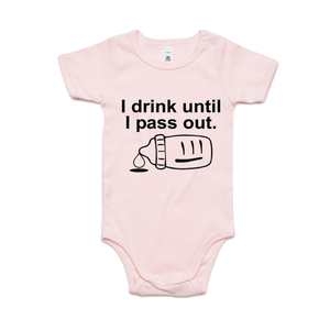 I DRINK UNTIL I PASS OUT (BLACK PRINT)