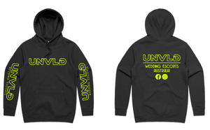 UNVLD OG HOODY FLURO YELLOW ON BLACK