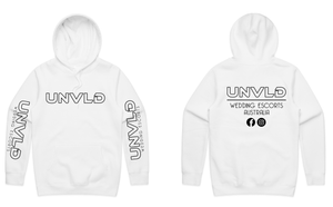 UNVLD OG HOODY BLACK ON WHITE