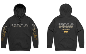 UNVLD OG HOODY GOLD ON BLACK