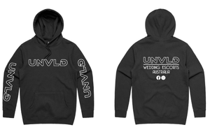 UNVLD OG HOODY WHITE ON BLACK