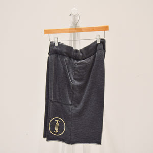 varsity short | washed black