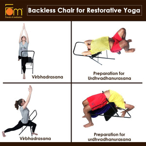 Iyengar Backless Chair for Yoga