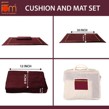 Load image into Gallery viewer, Specifications - 10MM Woolen Meditation and Yoga Mat with Silk Border – Maroon