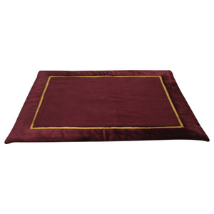 Mat -10MM Woolen Meditation and Yoga Mat with Silk Border – Maroon