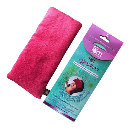 Eye Pillow with Lavender and Organic Flaxseed for Yoga, Meditation, Spa Therapy, Wellness and Relaxation, Stress Relief Gift for Women and Men - Magenta