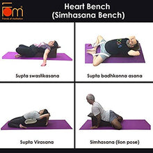 Load image into Gallery viewer, Iyengar Yoga Wooden Heart Bench - Poses