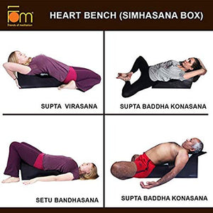 Iyengar Yoga Wooden Heart Bench - Poses