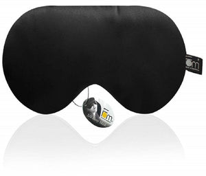 100% Mulberry Silk, Super Smooth Sleep Mask and Blind Fold – Black