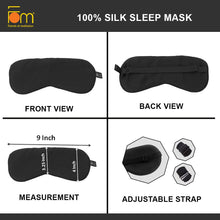 Load image into Gallery viewer, 100% Mulberry Silk, Super Smooth Sleep Mask and Blind Fold