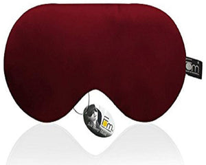 100% Mulberry Silk, Super Smooth Sleep Mask and Blind Fold – Maroon