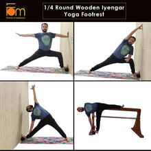 Load image into Gallery viewer, Poses - Iyengar Yoga 1/4 Wooden Block (Foot Rest)