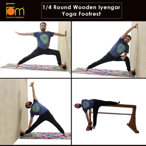 Poses - Iyengar Yoga 1/4 Wooden Block (Foot Rest)