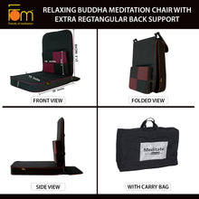 Load image into Gallery viewer, Relaxing Buddha Meditation Chair with Extra Rectangular Back Support