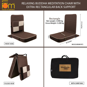 Relaxing Buddha Meditation Chair with Extra Rectangular Back Support