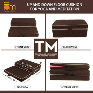 Specifications - Up and Down Floor Cushion for Yoga and Meditation – Brown