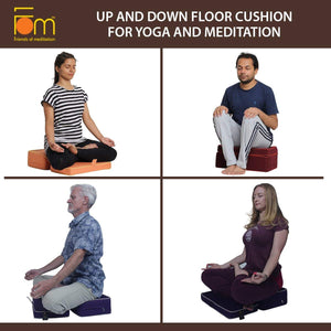 Colors and Postures - Up and Down Floor Cushion for Yoga and Meditation
