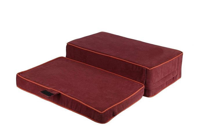 Up and Down Floor Cushion for Yoga and Meditation – Maroon