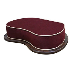 Wooden Base Floor Cushion for Yoga and Meditation - Maroon