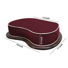 Load image into Gallery viewer, Specifications - Wooden Base Floor Cushion for Yoga and Meditation - Maroon
