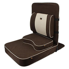 Load image into Gallery viewer, Extra Large Relaxing Buddha Meditation and Yoga Chair with Back-Support and Meditation Block – Brown