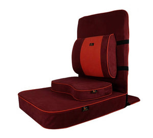 Extra Large Relaxing Buddha Meditation and Yoga Chair with Back-Support and Meditation Block – Maroon