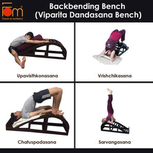 Load image into Gallery viewer, Poses - Iyengar Yoga Wooden Back Bending Bench