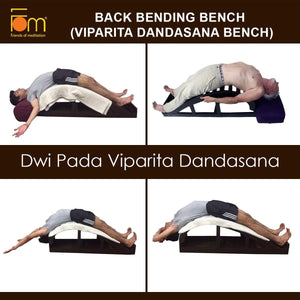 Poses - Iyengar Yoga Wooden Back Bending Bench