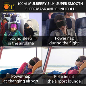 100% Mulberry Silk, Super Smooth Sleep Mask and Blind Fold