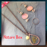 Nature Box Floral jewelry gift box handmade