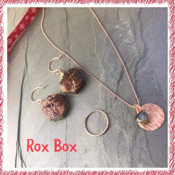 Gift Set Rox Box curated jewelry box gemstone
