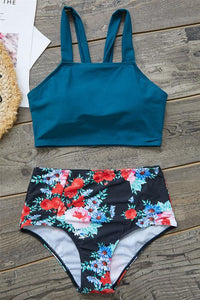 Shedrift Floral Printed Bikini Set