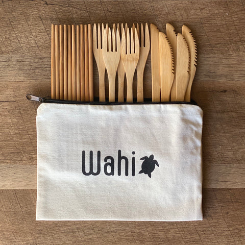"Wahi ""Hawaiian Style BBQ"" 15pc Bamboo Cutlery Set"