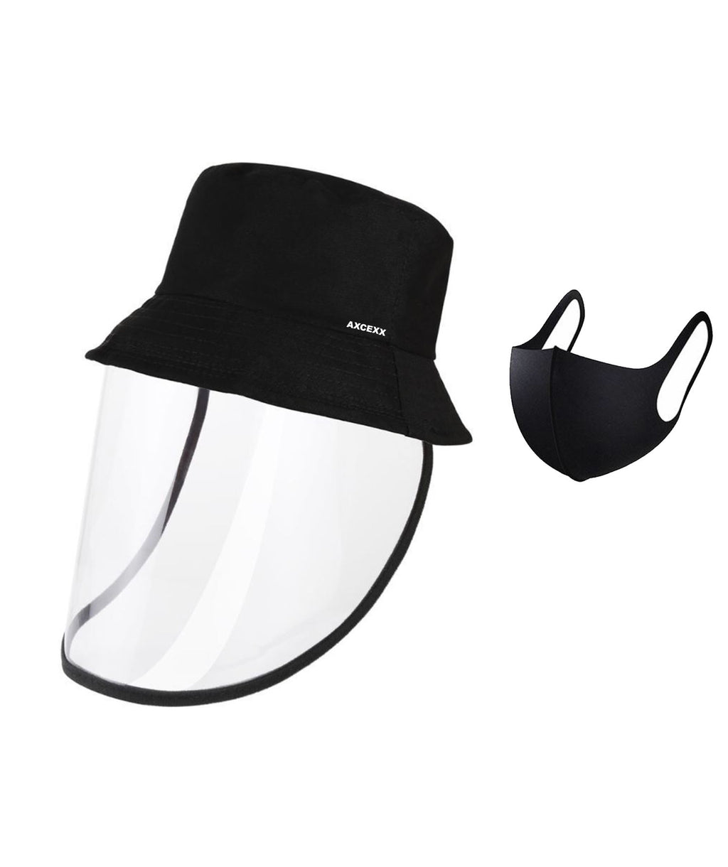 Protective bucket cap with detachable face guard + mask