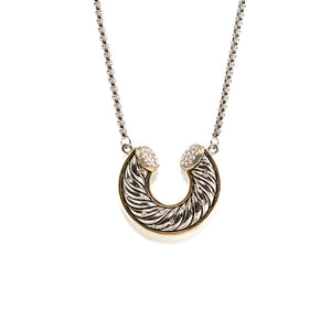 """U"" Horseshoe Necklace"