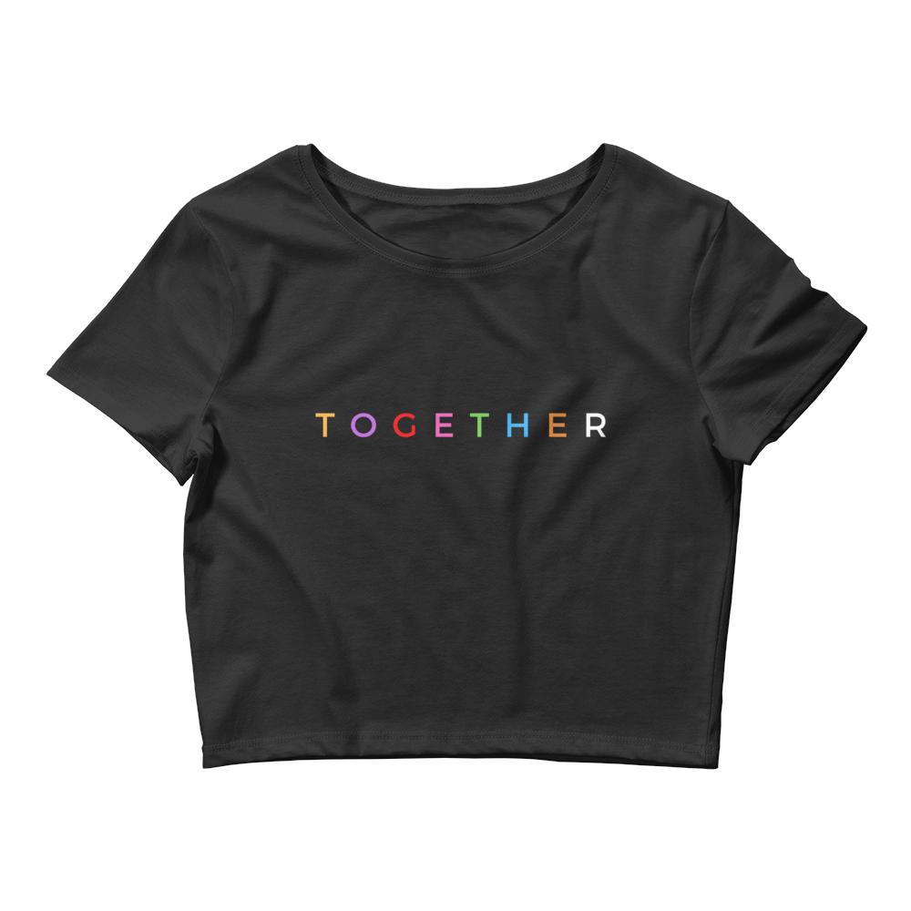 """TOGETHER"" Women's Crop Tee"