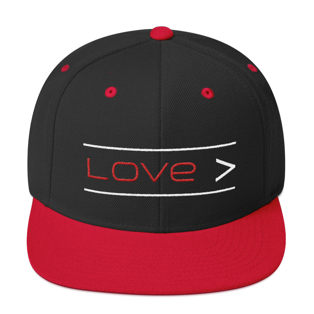 Love is Greater Snap-back Hat