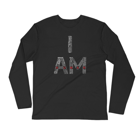 I Am Human Fitted Long Sleeve