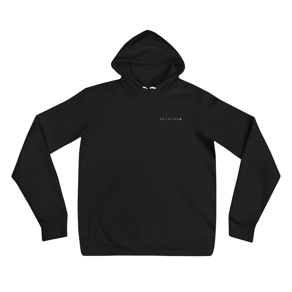 """TOGETHER"" Chest Logo Hoodie (Unisex)"