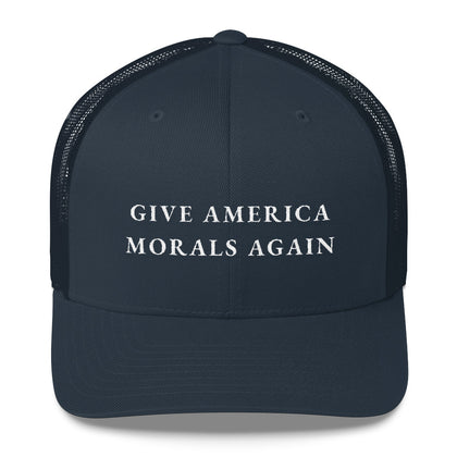 """Give America Morals Again"" Structured Cap (Partial Mesh)"