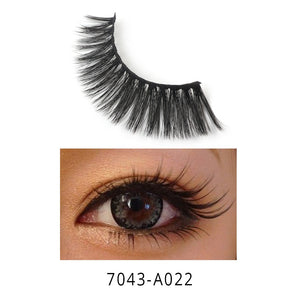 1 Pair 3D Natural False Eyelash Strip